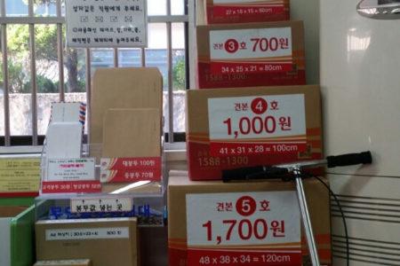 【韓国生活】韓国の郵便局で売ってるダンボール