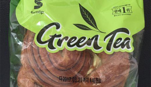 【韓国コンビニ】パンも抹茶ブーム?グリーンティーチョコペスチュリー